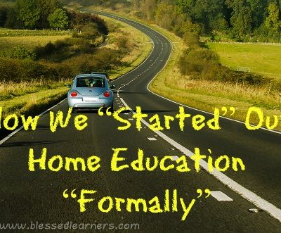 "How We ""Started"" Our Home Education ""Formally"""