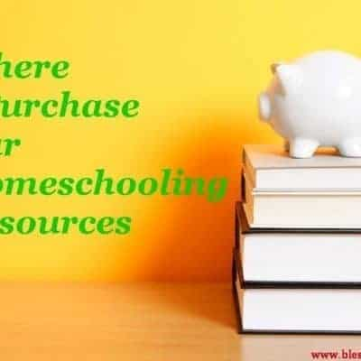 Where I Purchase Our Homeschooling Resources