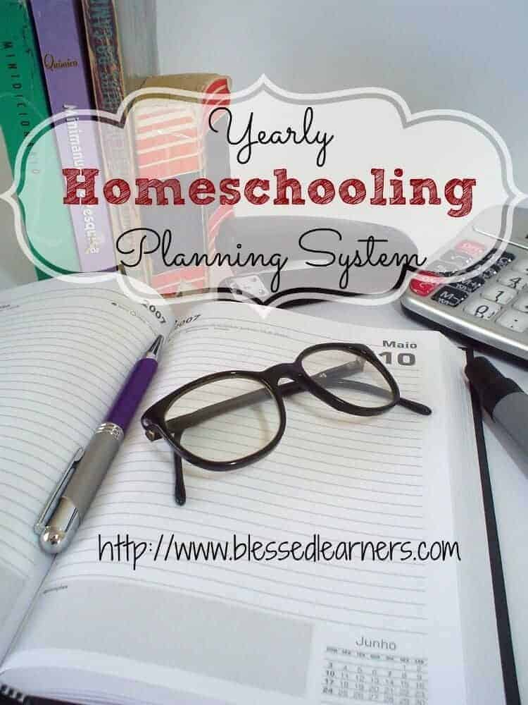 Yearly Homeschooling Planning System