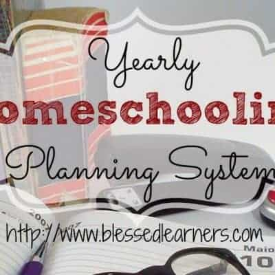 My Homeschool Lesson Planning