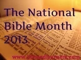 The National Bible Month 2013