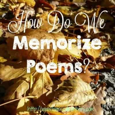 How Do We Memorize Poems?