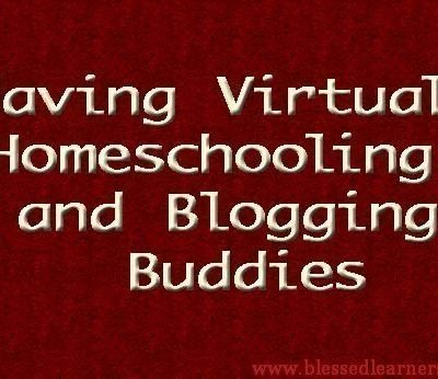 Having Virtual Homeschooling and Blogging Buddies