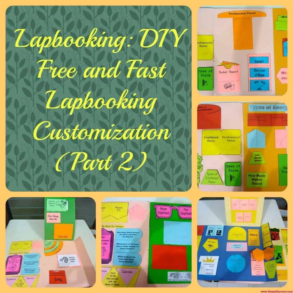 Lapbooking- DIY Free and Fast Lapbooking Customization (Part 2)