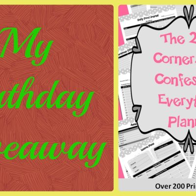 My Birthday Giveaway: 2014 Cornerstone Confessions Everything Bundle Planner