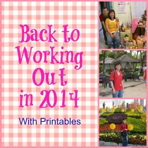 Back To Working Out in 2014 With Printables