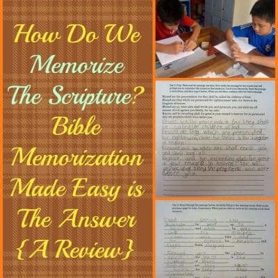 How Do We Memorize The Scripture? Bible Memorization Made Easy is The Answer {A Review}