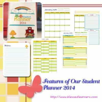 Features in Our Student Planner 2014