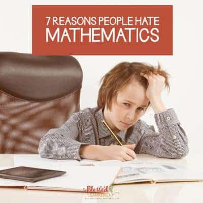 Not everyone has the same thought and impression like me. I wonder how people could hate mathematics. Today I would like to share my thought about 7 Reasons People Hate Mathematics. #Mathematics #Homeschool