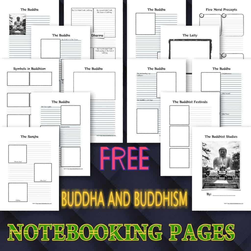FREE BUDDHA AND BUDDHISM NOTEBOOKING PAGES