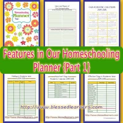Features in Our Homeschooling Planner {Part 1}