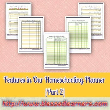 Features in Our Homeschooling Planner {Part 2}