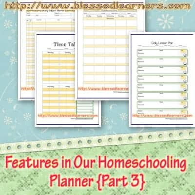Features in Our Homeschooling Planner {Part 3}