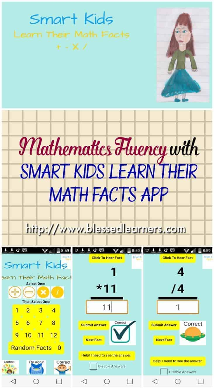 Mathematics Fluency in Number Facts is very important to lay the foundation of logic to children since it was in the beginning. There are a lot of ways to do it. Smart Kids Learn their Math Facts is a great Android App to help children with number fluency.