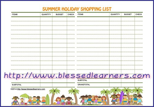 Get FREE Summer Holiday Planner