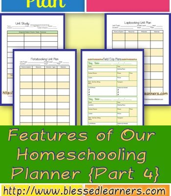 Features of Our Homeschooling Planner {Part 4}