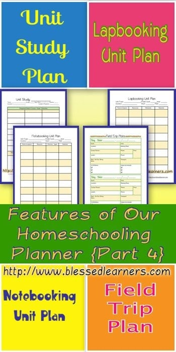 Features in Our Homeschooling Planner Part 2