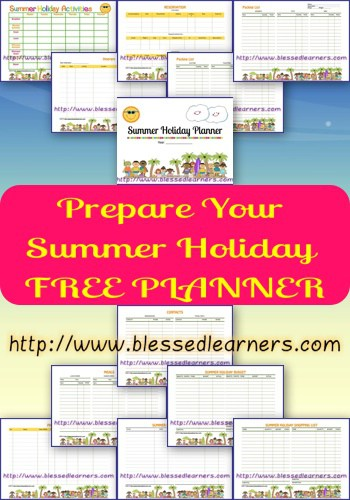 Prepare Your Summer Holiday FREE Planner