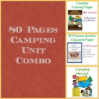 80 Pages Camping Unit Combo