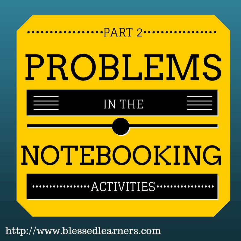 Problems in The Notebooking Activities - Part 2
