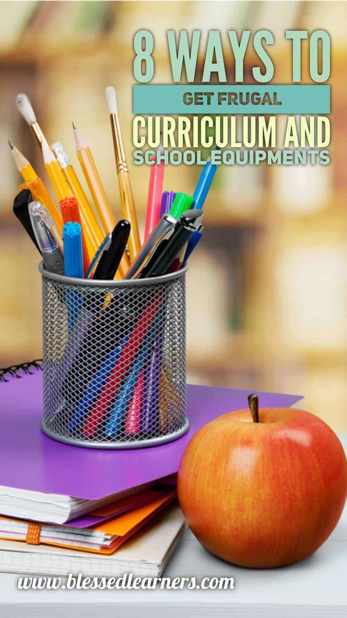 8 Ways to Get Frugal Curriculum and Equipment for homeschool