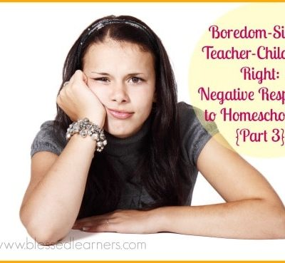 Boredom-Single Teacher-Children's Right: Negative Responses to Homeschooling {Part 3}