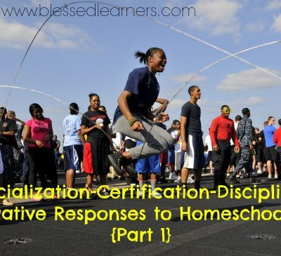 Socialization-Certification-Discipline: Negative Responses to Homeschooling {Part 1}