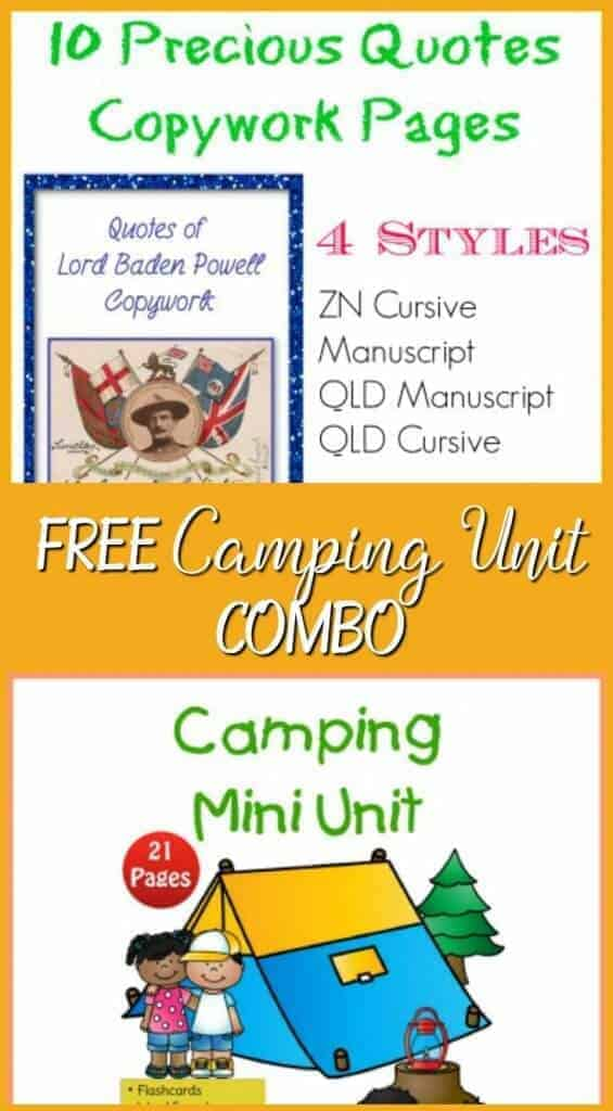 Camping is a great way to do outdoor activities for families in summer. Children can practice life skills. Here are some free camping unit combo.