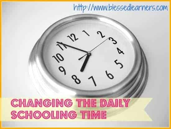 Changing The Daily Schooling Time