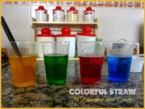 Colorful Straw - An Experiment about Density
