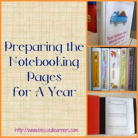 Preparing the Notebooking Pages for A Year