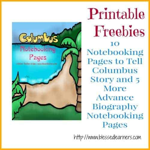 Columbus Notebooking Pages