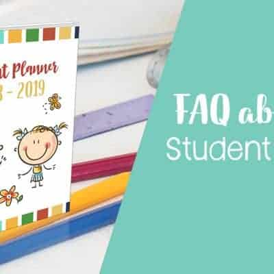 FAQ about Our Student Planner