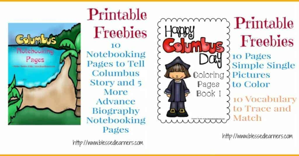Printable Worksheets free columbus day worksheets : FREE Christopher Columbus Units and Resources - Blessed Learners
