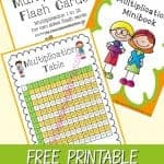 We are giving away FREE Printable Multiplication Tools. It has multiplication printable sheets, multiplication mini book, and multiplication flash cards to help children to be fluent.