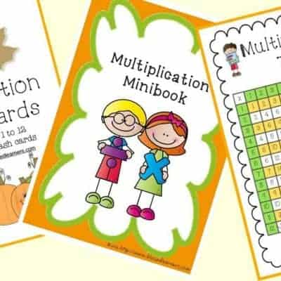 FREE Multiplication Printable Tools
