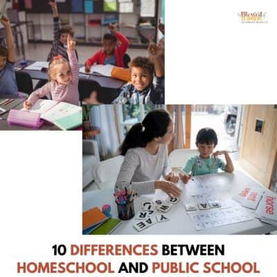 10 Differences between Homeschool and Public School