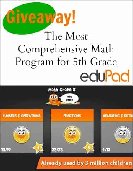 5th grade math app giveaway