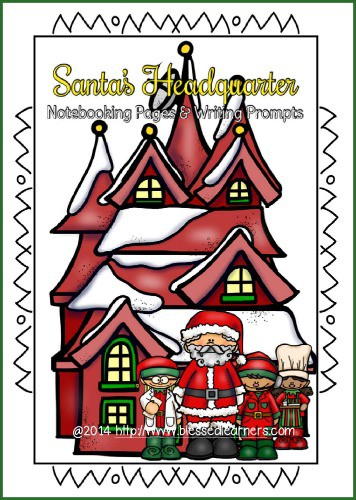 Santa's Headquarter Notebooking Pages and Writing Prompts