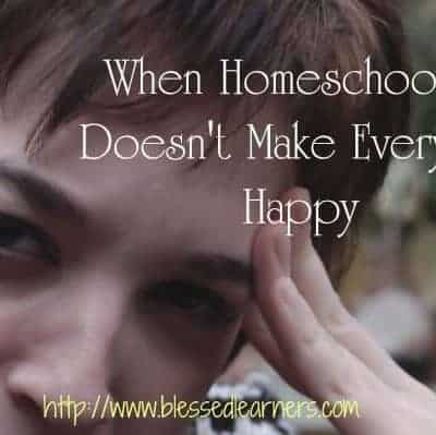 When Homeschooling Doesn't Make Everyone Happy