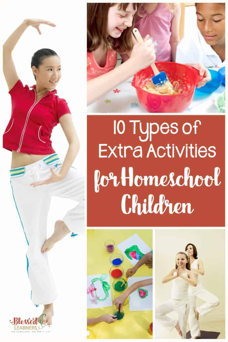 What do your children do besides the schooling activities? Looking for extra activities for homeschool children? Here are 10 types you can look up and adapt for your children so they can they can get the best out of homeschool. #Homeschool #Parenting #Activities