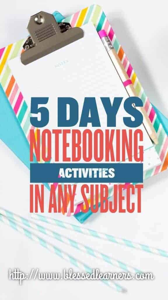 5 Days Notebooking Activities in Any Subjects