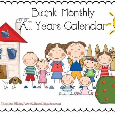 FREE Blank Monthly Calendar Printable for All Years