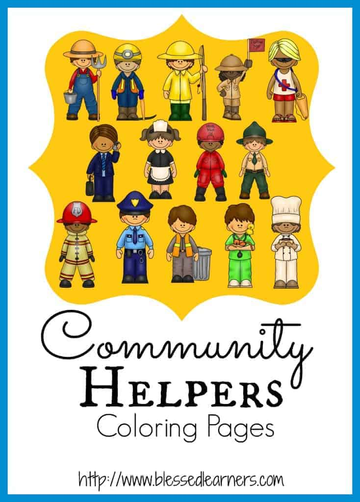 Community Helper Coloring Pages - Blessed Learners