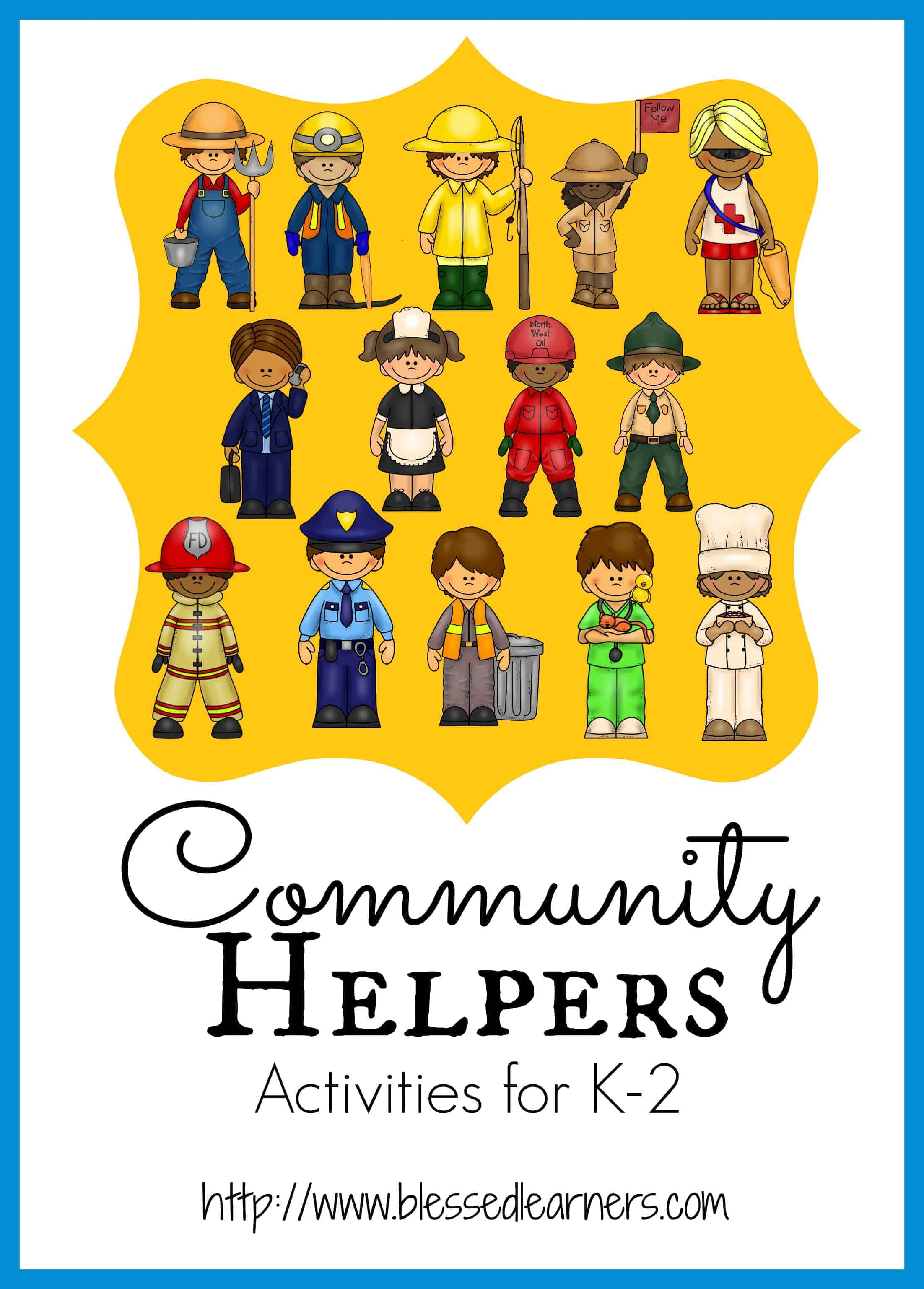 activities for the community helper unit for children blessed
