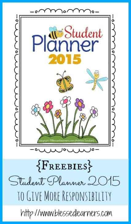 {Freebies} Student Planner 2015 to Give More Responsibility