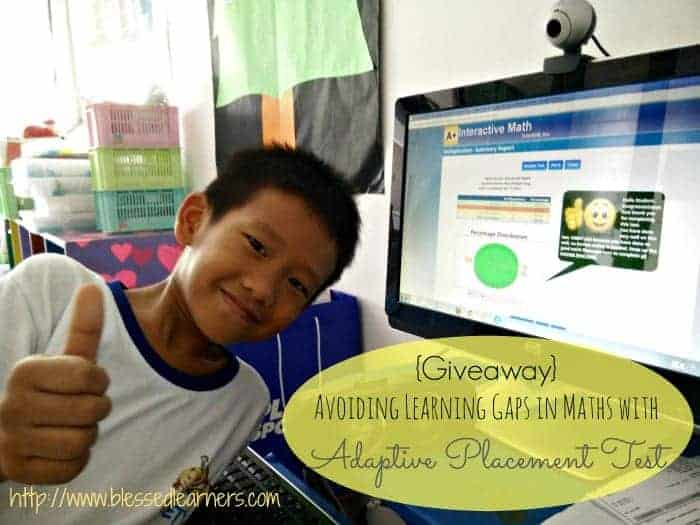 {Giveaway} Avoiding Learning Gaps in Maths with Adaptive Placement Test
