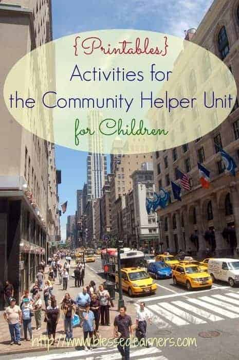 {Printables} Activities for the Community Helper Unit for Children