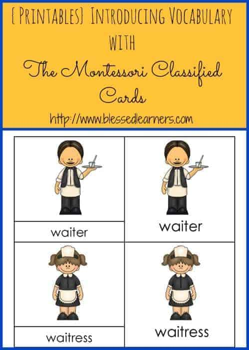 {Printables} Introducing Vocabulary with The Montessori Classified Cards