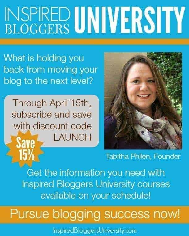 Inspired Blogger University Membership Launch